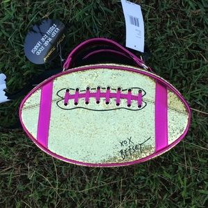 Betsey Johnson football lunch tote🏈